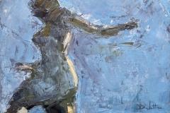 """Reflet 1 - huile sur toile - 33x24cm (collection particulière)Publication américaine """"Poets and Artists"""" www.poetsandartists.comO&S summer 2009 (Delettre p.132 / 10 pages)"""