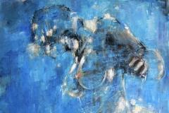 Rêverie 8 – huile sur toile – 150×150 cm