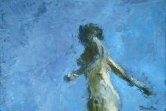 Reflet 2 - h auile sur toile - 33x24cm - (collection particulière)