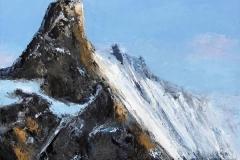 Ascension - Brume au loin - huile sur toile - 100x100cm - collection particulière