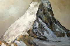 La couleur du ciel (Cervin) - huile sur toile - 120x120cm (collection particulière)