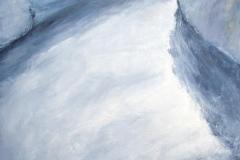 Le souffle (La crête de L'Aiguille du Midi) - huile sur toile - 162x130cm