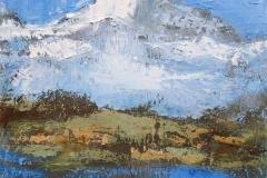 Massif des Aiguilles Rouges (Haute Savoie - face à l'aiguille verte) - 30x30cm - collection particulière