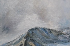 Les crêtes du pic du pin (Belledonne - Isère) - huile sur toile - 120x120cm