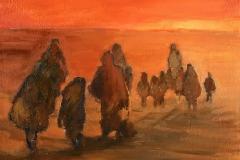 Exil (2) - Oil on canvas - 41x33cm