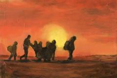Exil (3) - Oil on canvas - 35x27cm