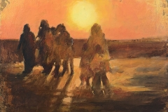 Exil - oil on canvas - 41x33cm