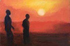 Entre temps - Oil on canvas - 41x33cm