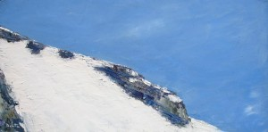 Glisse N°3 - huile sur toile - 40x80cm