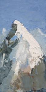 Pic - huile sur toile - 30x60cm - collection particulière (collection particulière)