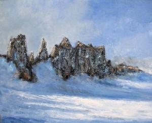 Aiguille du Midi (Alpes) - huile sur toile - 100x81cm - collection particulière
