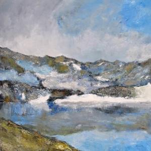 La grande Casse (Parc de la Vanoise) - huile sur toile - 120x120cm
