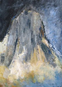 Le Sommet de l'Ama Dablam (Népal) - huile sur toile - 92x65cm