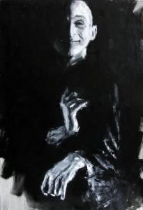 Butô - huile sur toile - 73x54cm