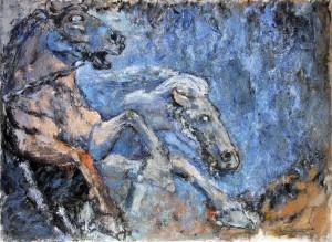 Les Impétueux de Bartholdi - oil on canvas - 100x73cm - collection particulière