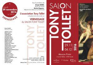 Invitation vernissage Salon Tony Tollet 2016
