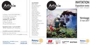 Invitation vernissage Art&cie-de l'Art à l'Autre © 2017